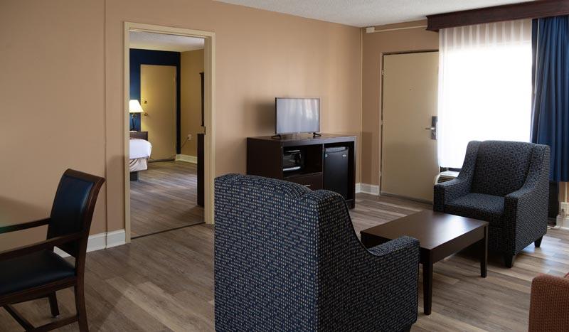 King Bed Suite at Hotel Pentagon arlington virginia